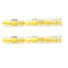 Square Beads 3.4x3.4mm Crystal Yellow Lined Luster Terra Color